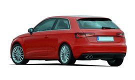 Red hatchback Royalty Free Stock Photos