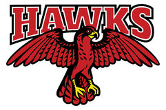 Red hawk mascot Royalty Free Stock Image