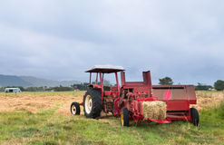 Red Hay Baler Royalty Free Stock Image