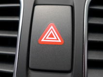 Red hazard light in car Royalty Free Stock Photography