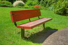 Red HDR bench Stock Photos