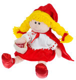 Red head. Toy from kids book Royalty Free Stock Photography
