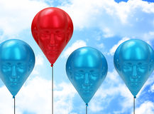 The red head balloon Royalty Free Stock Image