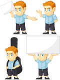 Red Head Boy Customizable Mascot 5 Royalty Free Stock Photography