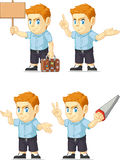 Red Head Boy Customizable Mascot 3 Stock Images