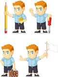Red Head Boy Customizable Mascot 8 Royalty Free Stock Photography