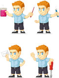 Red Head Boy Customizable Mascot 12 Royalty Free Stock Photos
