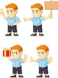 Red Head Boy Customizable Mascot 15 Stock Image