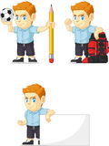 Red Head Boy Customizable Mascot 14 Royalty Free Stock Photos