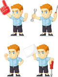 Red Head Boy Customizable Mascot 19 Royalty Free Stock Photo
