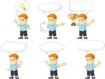Red Head Boy Customizable Mascot 21 Royalty Free Stock Images