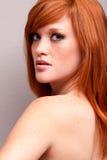Red head girl Stock Photo
