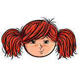 Red head girl smiley. Stock Images