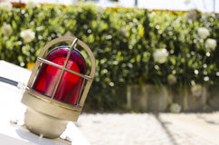 Red Head Lamp. For special transportations Royalty Free Stock Photos