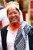 Red head. Muslim man with a dyed red beard indicating he is a devout religious man Stock Images