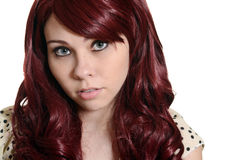 Red head teen girl portrait Royalty Free Stock Images