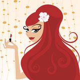 Red head woman make up Stock Photo