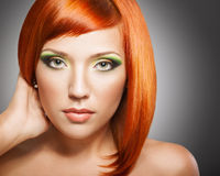 Red-headed девушка Стоковые Фотографии RF