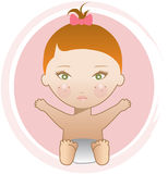 Red headed baby girl Royalty Free Stock Photos