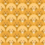 Red-headed cats seamless pattern royalty free illustration