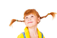 Red headed girl. Attractive red headed 6 years old girl stock image