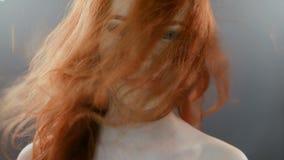 Red headed girl stock video