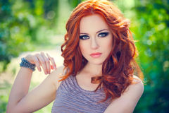 Red-headed girl Stock Photo