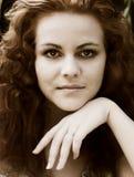 Red-headed Nymphe Lizenzfreie Stockfotos