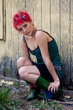 Red headed punk Royalty Free Stock Photography