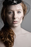 Red Headed Teenager In Veil Stock Images