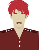Red headed user interface avatar icon Royalty Free Stock Photo