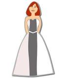 Red-Headed Wijfje van het bruidsmeisje Royalty-vrije Stock Foto