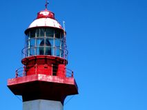 Headlight on blue sky. royalty free stock photography