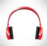 Red headphones Royalty Free Stock Photo