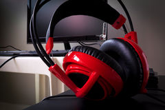 Red headphones Royalty Free Stock Photos