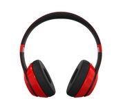 Red Headphones Isolated Royalty Free Stock Photo