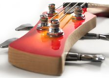 Red headstock bass Guitar Stock Photo