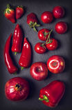 Red healphy vegetables and fruits Royalty Free Stock Photo
