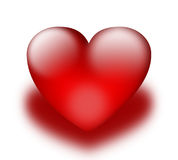 Red heart. Isolated shine red hart icon Royalty Free Stock Photography