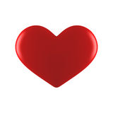 Red heart. Red valentine heart isolated on white Royalty Free Stock Photo