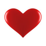 Red heart. Red glossy heart isolated on vhite Stock Photo