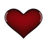 Red heart. Red glossy heart isolated on vhite Stock Images