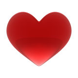 Red heart. Red glass Valentine day heart Stock Photography