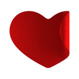 Red heart. Twirl tag sticker Stock Photography