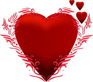 Red heart. Vector of a heart with artistic design Royalty Free Stock Image