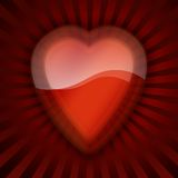 Red heart. Illustration of a red heart on white background Stock Images