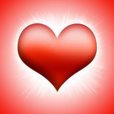 Red heart. Illustration of a red heart on white background Royalty Free Stock Photos