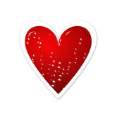 Red Heart. A red sparkling Valentine's heart royalty free illustration