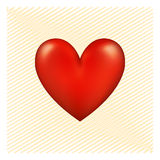 Red Heart. A tender red heart full of love Royalty Free Stock Images