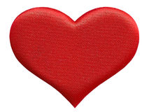 Red heart. Textured red heart isolated on a white background Royalty Free Stock Image